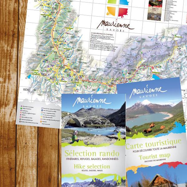 Carte touristique randonnée 2017