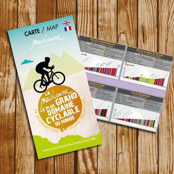 Carte vélo route avec profils - 2020