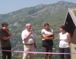 Marc Picton, Maire de Jarrier entouré d'élus locaux et du Département