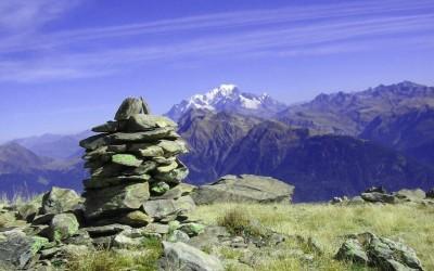 Secteur Bellachat vue Mont Blanc -Tour de Lauzière