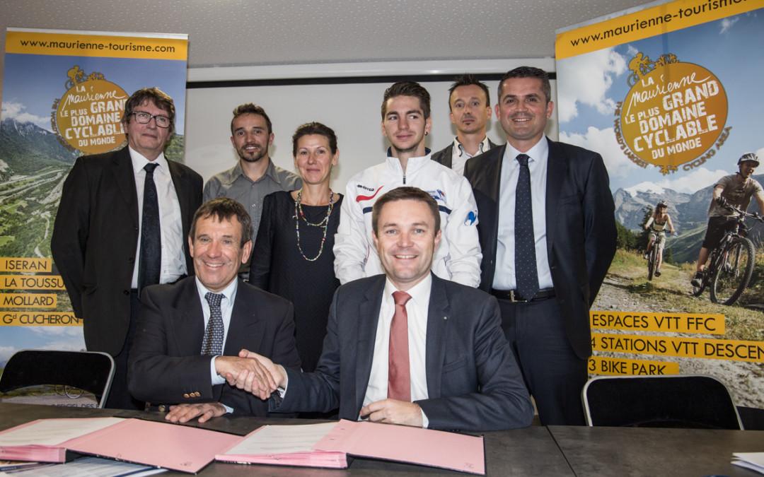 La Maurienne renouvelle son engagement auprès de  la Fédération Française de Cyclisme