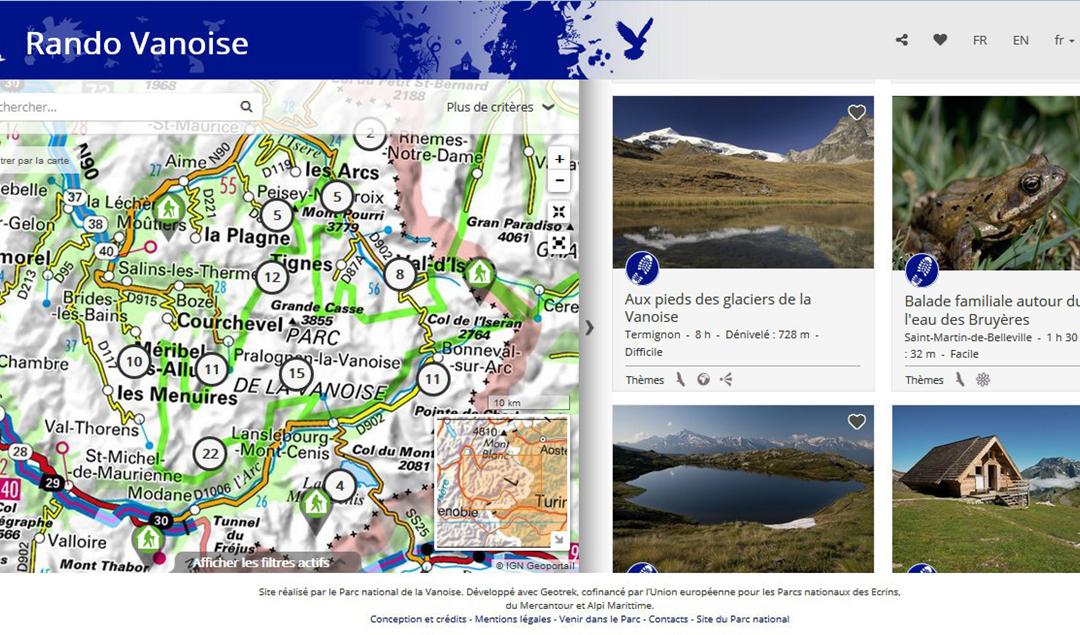 Une application de randonnée: le Rando Vanoise