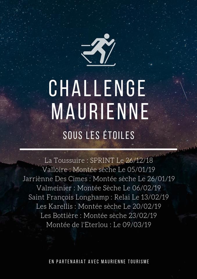 Ski alpinism challenge Maurienne